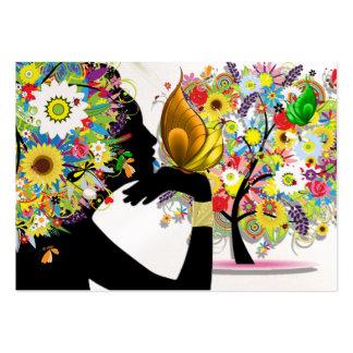 Su tarjeta de visita - perfil floral de la