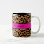Su taza de café del leopardo del nombre comercial