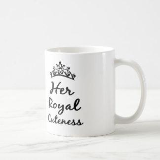 su taza real del café o del té de la princesa del