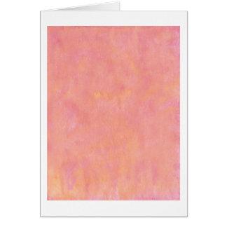 Su texto aquí: Fondo rosado del melocotón Tarjeta De Felicitación