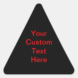 Su texto de encargo aquí pegatina triangular