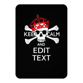 """Su texto guarda el cráneo rojo tranquilo de la invitación 3.5"""" x 5"""""""