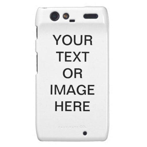 (Su texto/imagen aquí) caso de Motorola Razr Motorola Droid RAZR Carcasas