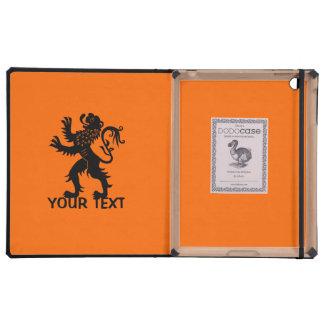 Su texto - león de Holanda iPad Cárcasas