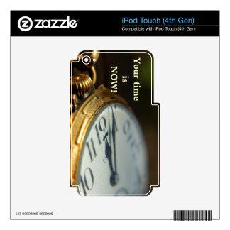 su tiempo ahora es piel del tacto de iPod Calcomanías Para iPod Touch 4G
