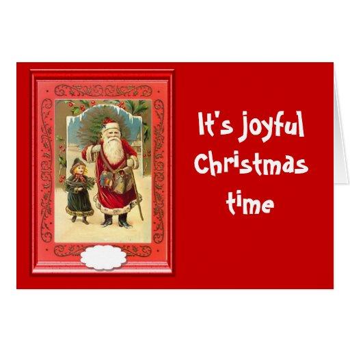 Su tiempo alegre del navidad felicitacion