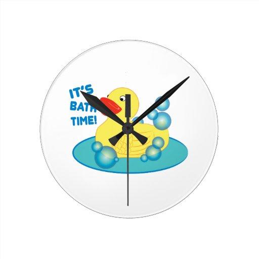 Su tiempo del baño reloj