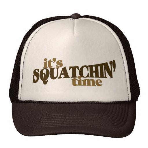 Su tiempo del squatchin gorras de camionero