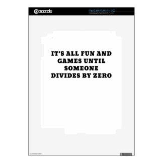 Su toda la diversión y juegos hasta alguien divide calcomanías para iPad 2
