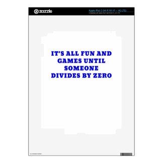 Su toda la diversión y juegos hasta alguien divide pegatina skin para iPad 3