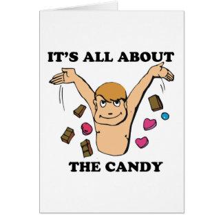 su todo alrededor el caramelo tarjeta de felicitación