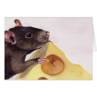 Su todo alrededor el queso tarjeta de felicitación