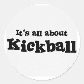 su todo alrededor pegatina del kickball