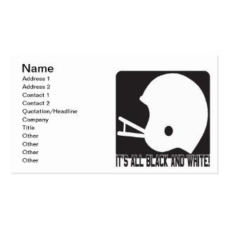 Su todo blanco y negro tarjetas de visita
