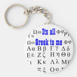 Su todo el Griego a mí llavero