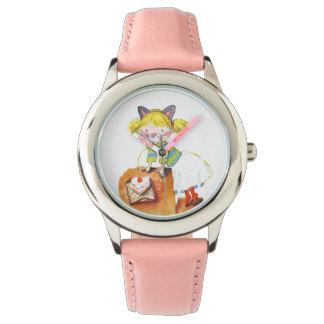 Su torta rosada de encargo del brillo para u reloj