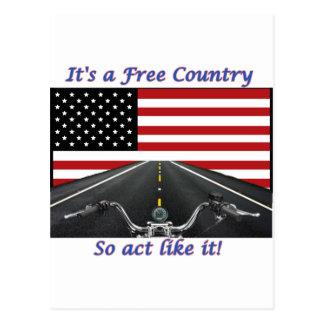 Su un acto del país libre tiene gusto tan de él postal