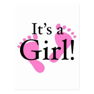 Su un chica - bebé, recién nacido, fiesta de bienv tarjetas postales