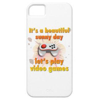 Su un día hermoso - juguemos a los videojuegos funda para iPhone 5 barely there
