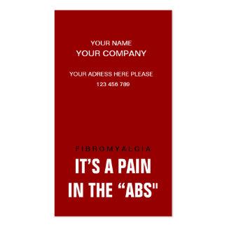 Su un dolor en el ABS - conciencia Plantillas De Tarjetas Personales