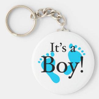 Su un muchacho - bebé, recién nacido, celebración llavero personalizado