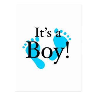 Su un muchacho - bebé, recién nacido, celebración tarjeta postal