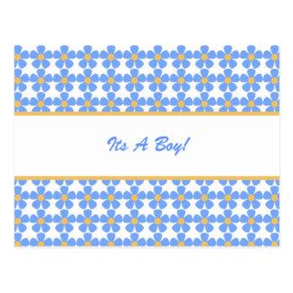 Su un muchacho florece la postal