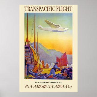 Su un pequeño mundo por las vías aéreas del americ póster