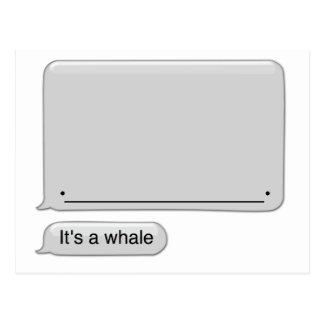 su una ballena tarjeta postal