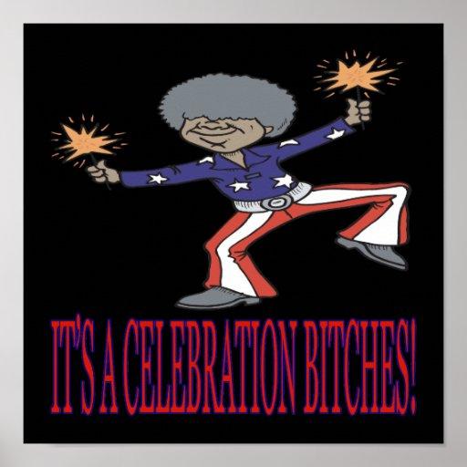 Su una celebración Bitches Póster