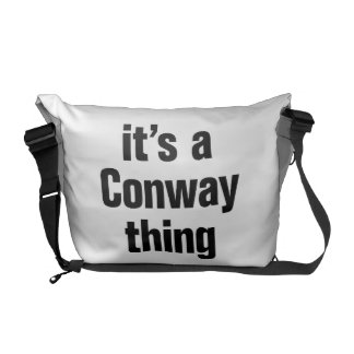 su una cosa conway bolsas de mensajería