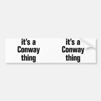 su una cosa conway pegatina para auto