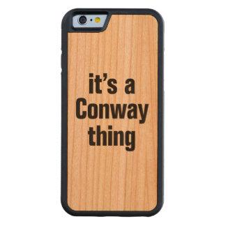 su una cosa conway funda de iPhone 6 bumper cerezo