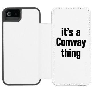 su una cosa conway funda cartera para iPhone 5 watson