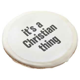 su una cosa cristiana