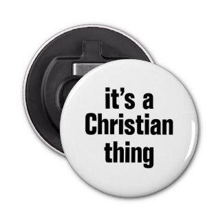 su una cosa cristiana abrebotellas redondo