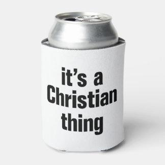 su una cosa cristiana enfriador de latas