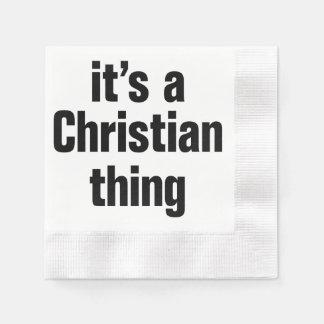 su una cosa cristiana servilleta de papel