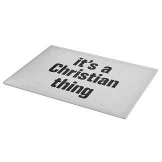su una cosa cristiana tabla de cortar