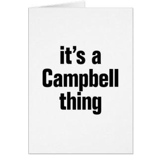 su una cosa de Campbell Tarjeta De Felicitación