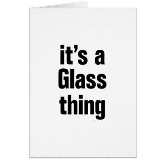 su una cosa de cristal tarjeta de felicitación