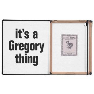 su una cosa de Gregorio