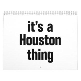 su una cosa de Houston Calendarios De Pared