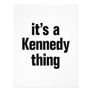 su una cosa de Kennedy Folleto 21,6 X 28 Cm
