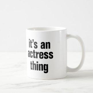 su una cosa de la actriz taza