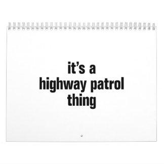 su una cosa de la patrulla de la carretera calendario de pared