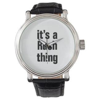 su una cosa de la precipitación relojes de pulsera