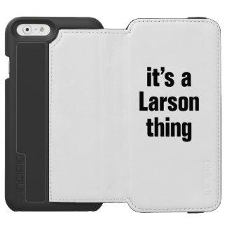 su una cosa de larson funda billetera para iPhone 6 watson