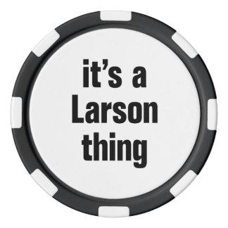 su una cosa de larson juego de fichas de póquer