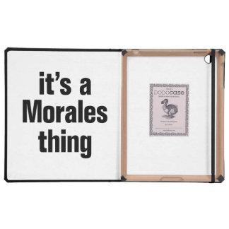 su una cosa de las morales